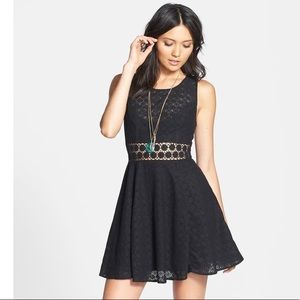 Free People 'Daisy' Lace Fit & Flare Dress size 12